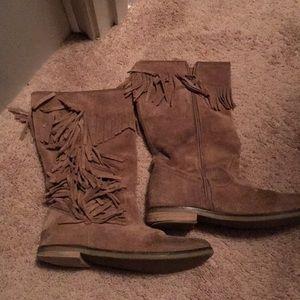 Zara suede fringe boots!